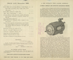 Advert for the Electro-Dynamic Company of Philadelphia, reverse side